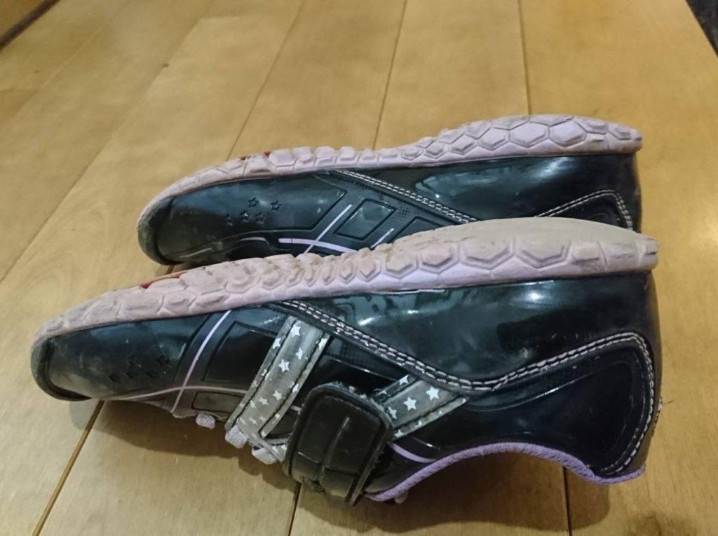 アサヒ『ガチ強』使用後の靴の側面